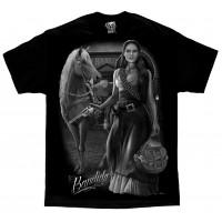 DGA David Gonzales Lowrider Chicano Art Bandida T Shirt