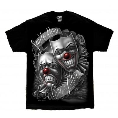 DGA David Gonzales Lowrider Chicano Art Drama Smile Now T Shirt