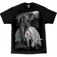 DGA David Gonzales Chicano Art End Of The Trail Native American Indian T Shirt
