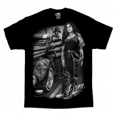 DGA David Gonzales Lowrider Chicano Art Firme Cholo Gangster T Shirt