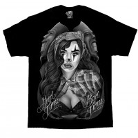 DGA David Gonzales Lowrider Chicano Art Good Times Bad Times T Shirt