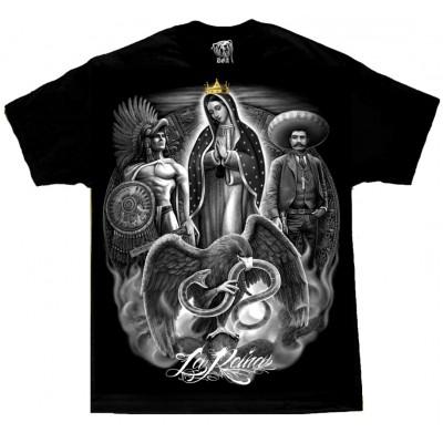 DGA David Gonzales Lowrider Chicano Art La Reina De Guadalupe T Shirt