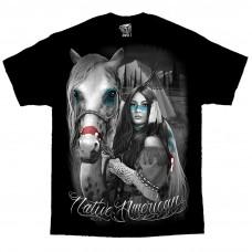 DGA David Gonzales Chicano Art Native American Indian T Shirt