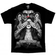 DGA David Gonzales Lowrider Chicano Art See No Evil T Shirt
