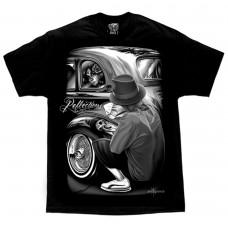 DGA David Gonzales Lowrider Chicano Art Reflections Cholo T Shirt