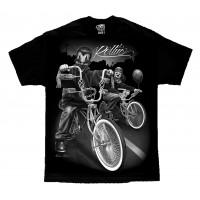 DGA David Gonzales Lowrider Chicano Art Rolling Clowns T Shirt