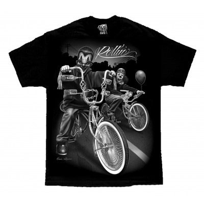 DGA David Gonzales Lowrider Chicano Art Rolling Clowns T Shirt