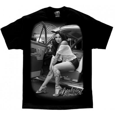 DGA David Gonzales Lowrider Chicano Art Boulevard T Shirt
