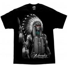 DGA David Gonzales Chicano Art Warrior Native American Indian T Shirt